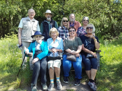 A group enjoying connecting with nature and like-minded people on one of the Trust's monthly nature walks.