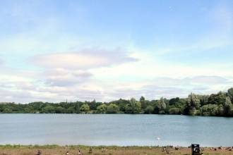 Westport Lake Visitor Centre panorama