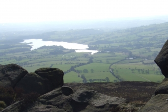 Tittesworth Reservoir viewed from the Roaches