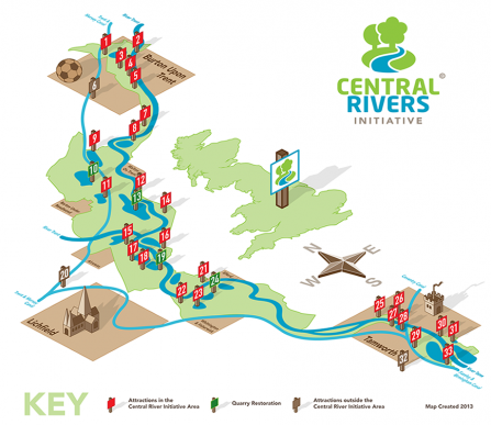 Central Rivers Map